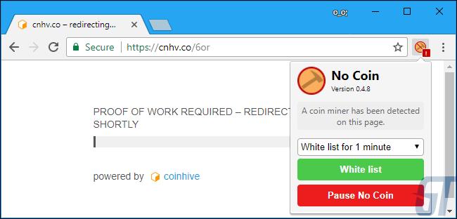 Вариант второй: установите расширение для браузера «No Coin»