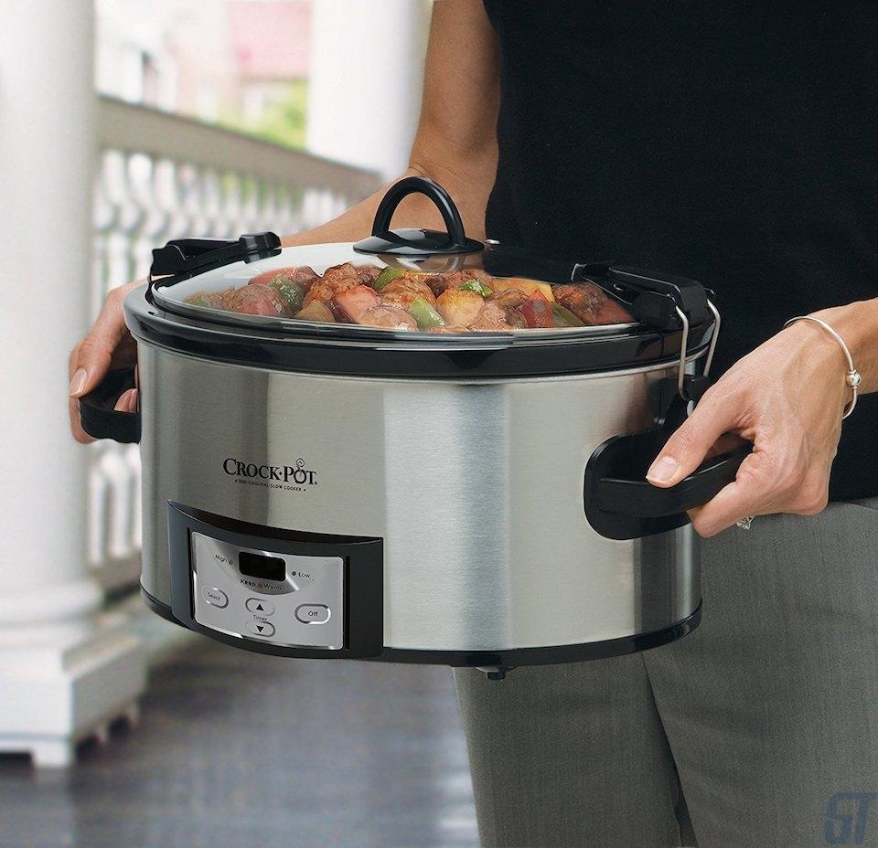 Crock-Pot 6-Quart Programmable Cook & Carry Slow Cooker ($ 35)