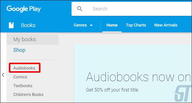 Затем выберите разделы Аудиокниги.
